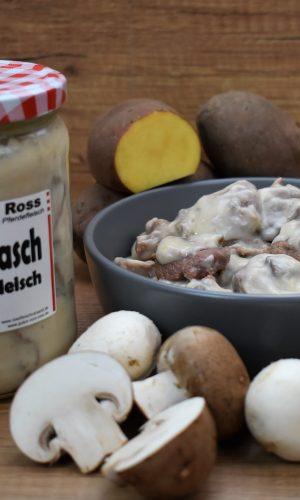 Gulasch aus Pferdefleisch