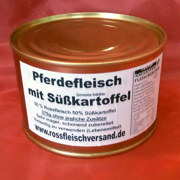 375g Dose Pferdefleisch mit Süßkartoffel