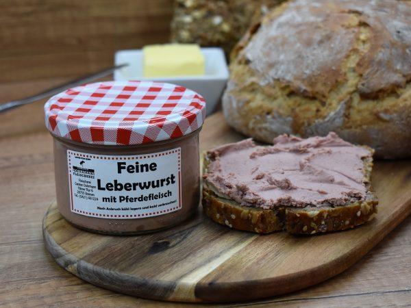 Leberwurst mit Pferdefleisch
